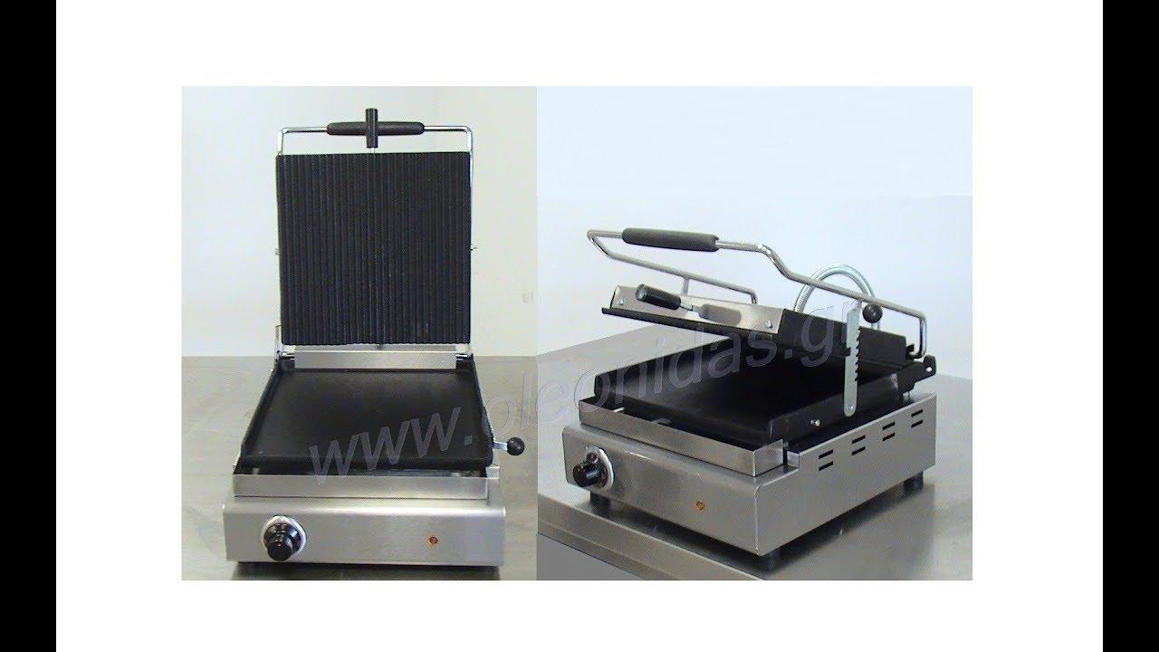 Τοστιέρα Μονή Πλάκες Ραβδωτές   Λείες - Single Toaster Up Ribbed   Down  Smooth Plate Τ307Μ 42b2cd70abb