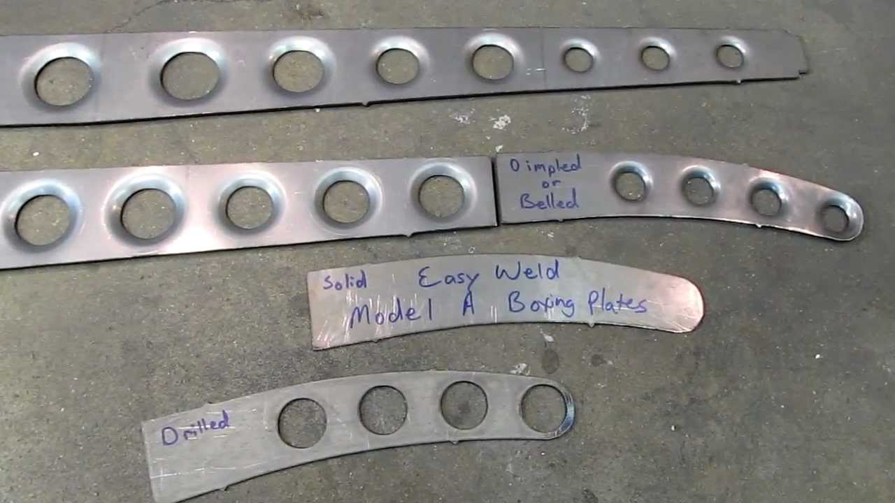 ef2a286ff08c Model A   32 Ford Dimpled or Belled Frame Boxing Plates - Wolfes Metal  Fabrication - YouTube