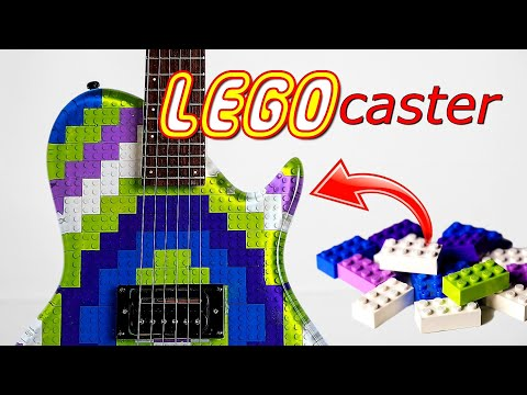 I Made a Guitar from LEGO and Epoxy Resin..the LEGOcaster!!