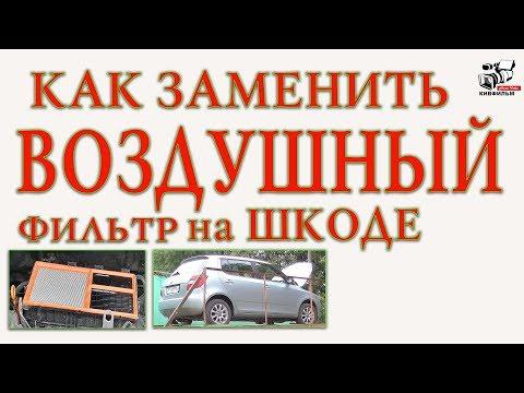 Как заменить воздушный фильтр на автомобиле Шкода. Skoda Fabia II. Инструкция.