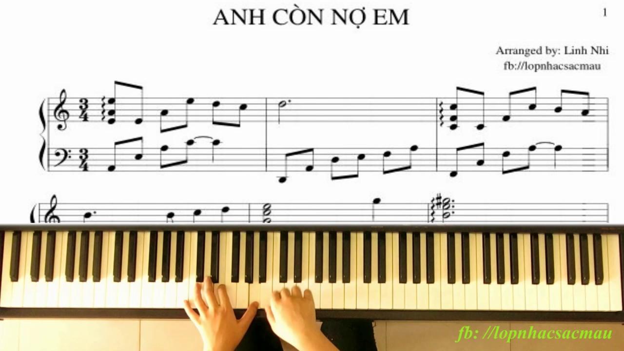 Anh Còn Nợ Em (Rhythm: Boston, Tone: A minor) | Piano Tutorial | Linh Nhi
