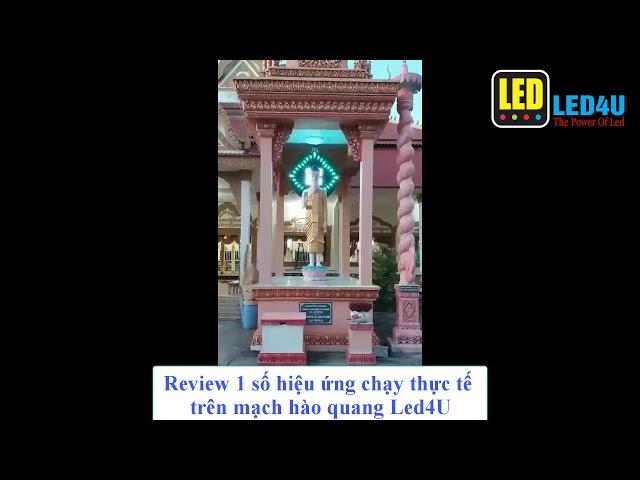 Led4U_Review hiệu ứng hào quang full chạy thực tế