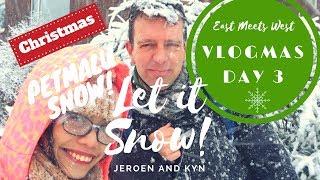 ❄️VLOGMAS Day 3️⃣ MY FIRST SNOW!!! SHOOKT! Dashing through the SNOW...AMAZEBALLS! | Jeroen & Kyn