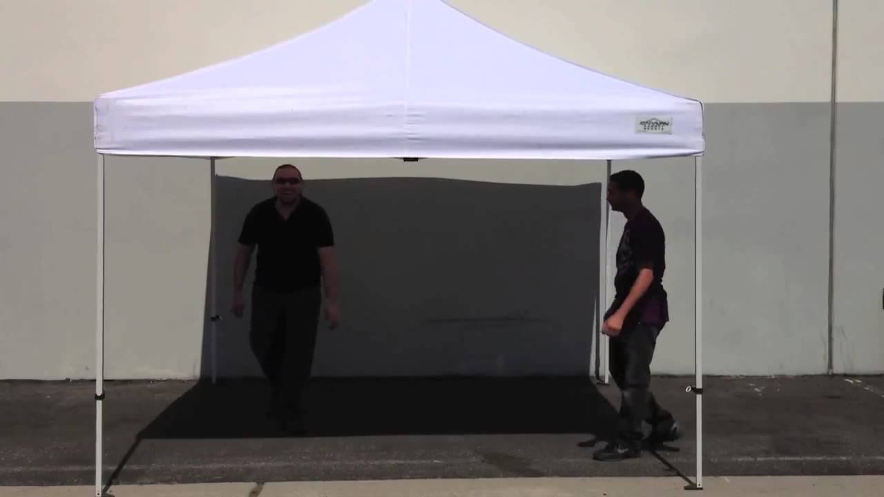 Instruction To Set Up A Portable Carport : Caravan canopy how to set up and put away youtube