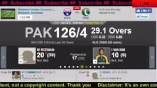 Australia vs Pakistan 1st ODI Live   Live Cricket Score   Australia vs Pakistan at Brisbane  free