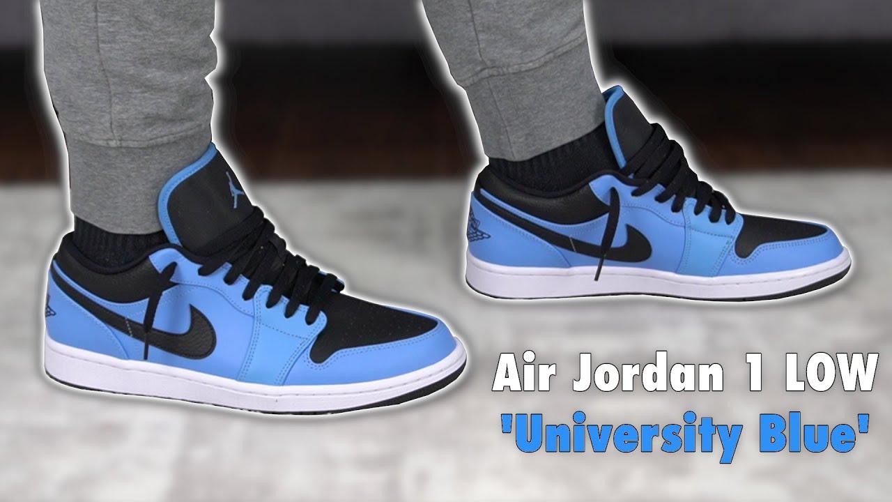 AIR JORDAN 1 LOW GS 'UNIVERSITY BLUE BLACK'