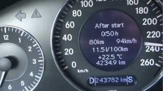 mercedes e 270 cdi w211 top speed
