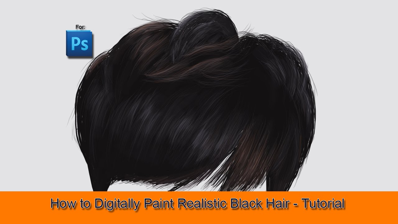 how to digitally paint black hair in photoshop tutorial youtube. Black Bedroom Furniture Sets. Home Design Ideas