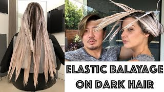 ELASTIC BALAYAGE on Dark Hair