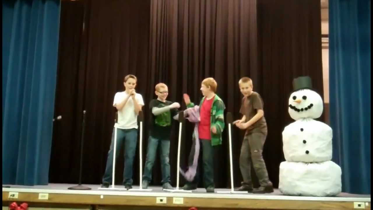 """Boys Christmas Skit to """"In The Sun They Melted"""" by ..."""
