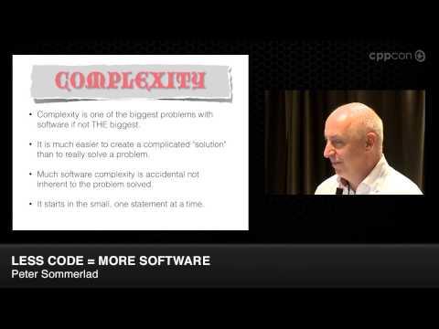 "CppCon 2014: Lightning Talks - Peter Sommerlad ""Less Code = More Software"""