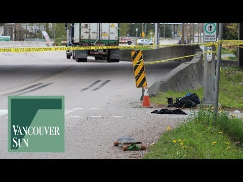 Skateboarder dies after collision with semi-truck in New Westminster | Vancouver Sun