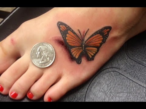 3d Butterfly Tattoos Tattoo Designs For Girls Youtube