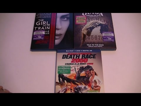 Présentation unboxing The Girl on the train, Ouija: Origin of evil et Death Race 2050
