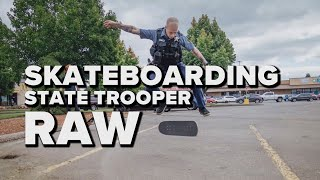 Raw video: Nic Rumsey, the skateboarding Oregon State Police trooper