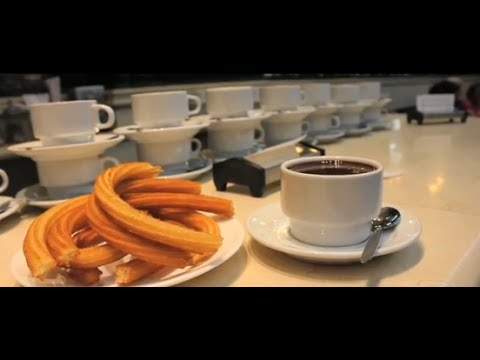 What to do in Madrid; Churros Madrid Chocolateria San Gines Spain