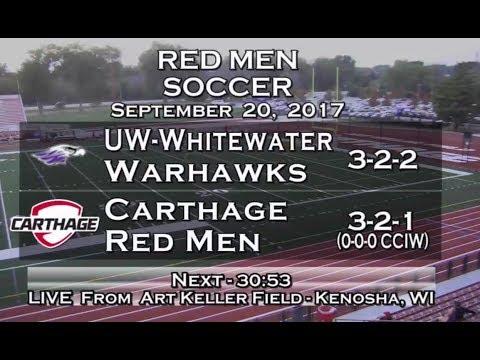 Carthage Men's Soccer vs. UW-Whitewater 2017_9_20
