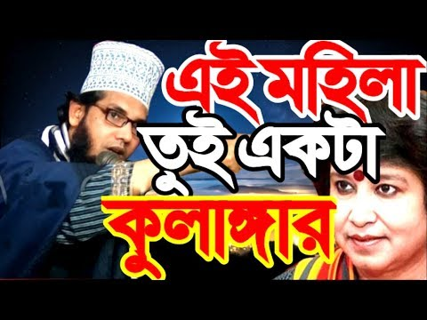 Video Waz Full এই মহিলা তুই কুলাঙ্গার Bangla Waz 2018 Molla Nazim Uddin | Taslima Nasrin Nastik