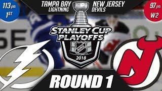 NJ Devils  vs TB Lightning - Round 1 Playoff Preview