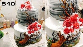 Spring Wedding Cake - decorating bettercreme (510) Học Bánh Kem Đơn Giản Đẹp (510)