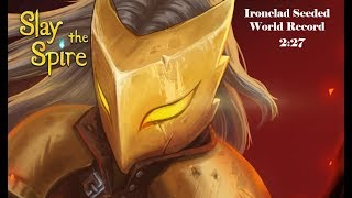 Slay the Spire Speedrun: Ironclad Seeded 2:27 (WR)