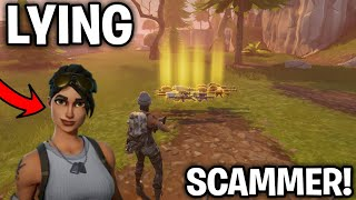 Lying Scammer Scammed Himself! (Scammer Gets Scammed) Fortnite Save The World