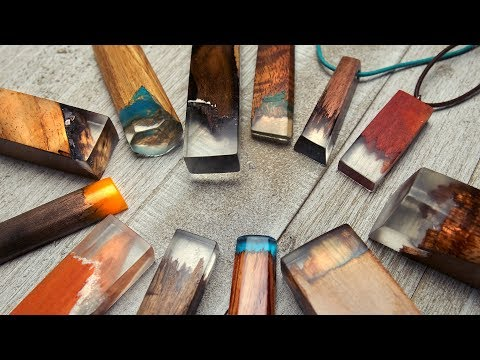 WOOD + RESIN JEWELRY | How to Make Secret Wood Type Necklace Pendants