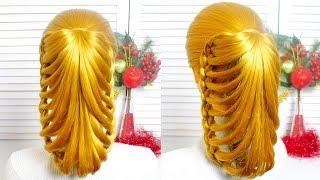Прическа в Школу🍀На каждый день на длинные волосы на основе косичек ❤️Hairstyle for School🍀