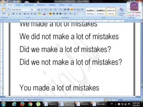 Lesson Past Simple Affirmative Negative Interrogative Part Four by Tariq