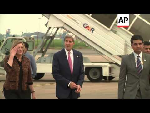 US Secretary of State John Kerry arrives in India