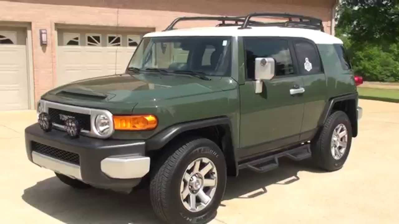 Hd Video 2014 Toyota Fj Cruiser Army Green For Sale See