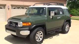 HD VIDEO 2014 TOYOTA FJ CRUISER ARMY GREEN FOR SALE SEE WWW SUNSETMOTORS COM