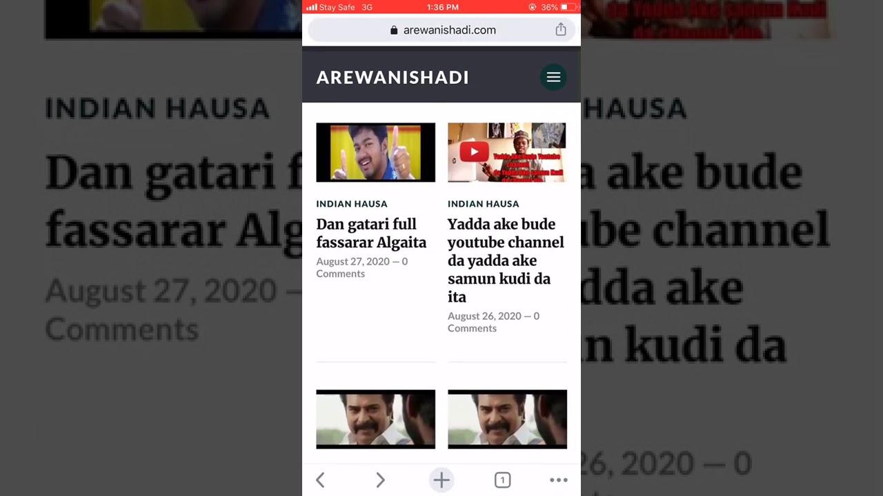 Download Yadda Ake kallon fina finai indian hausa masu ( password ) a shafin Arewanishadi apps da website