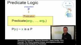 Semantics and Pragmatics - Sentence Semantics