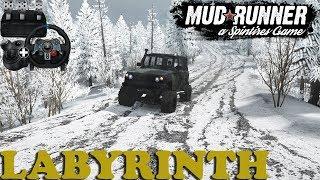 SpinTires: MudRunner | Labyrinth | Map Mod | Uaz 3172 Razvedchik | Wheelcam | PC Gameplay