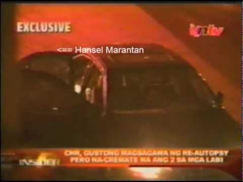Ortigas Rubout of 2005 captured Hansel Marantan on video, murdering car passengers