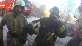 Пожар в деревянном доме на ул. Пионерская