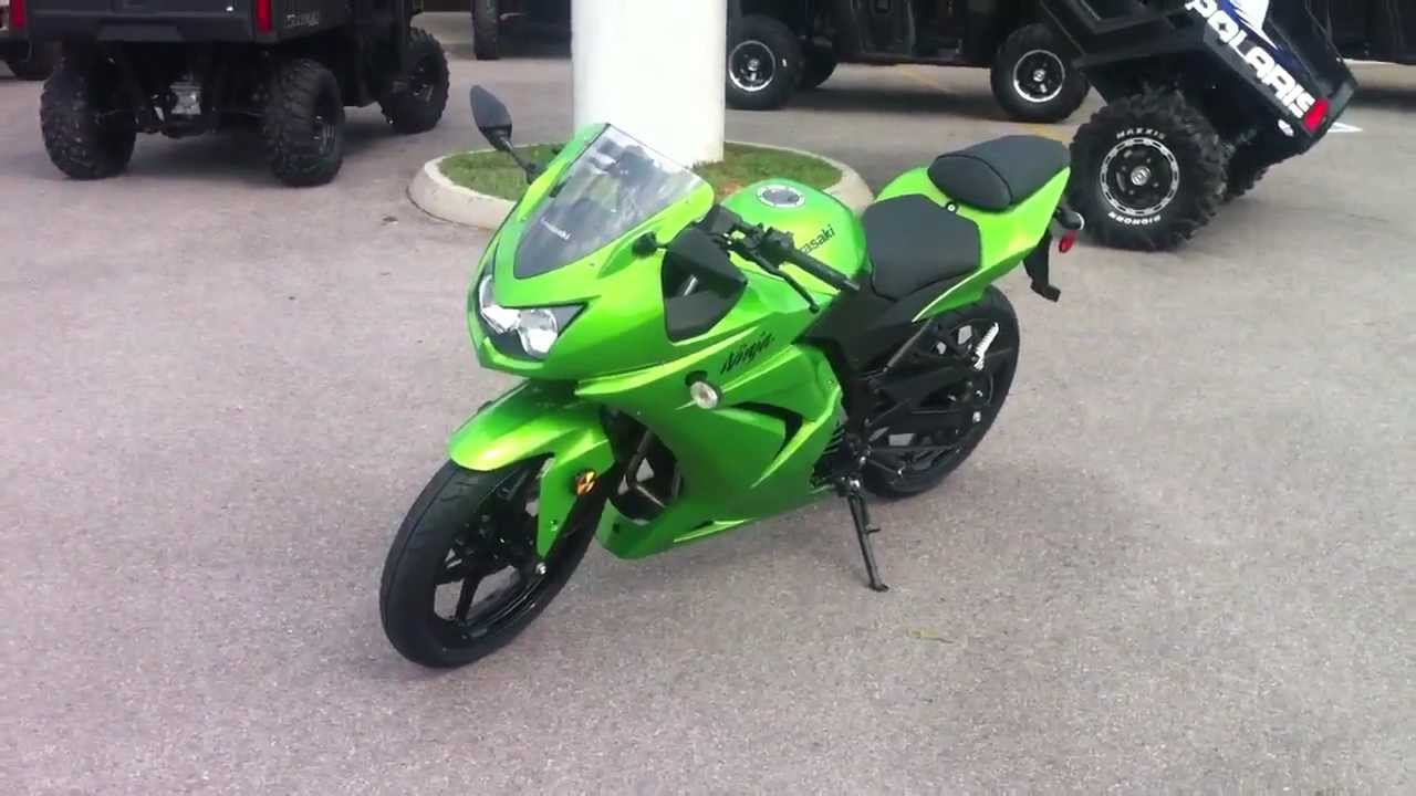 2012 Kawasaki Ninja 250 Candy Lime Green  YouTube