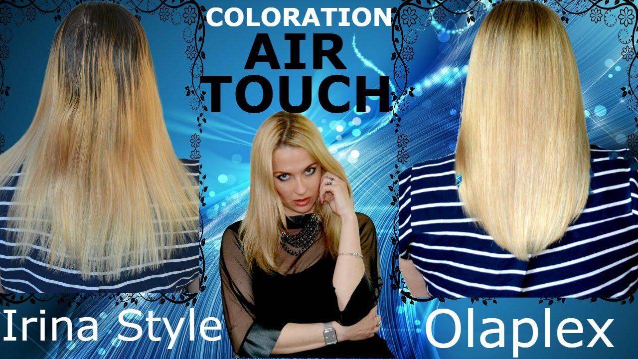 Coloration en technique AIR TOUCH avec le soin Olaplex RELOOKING