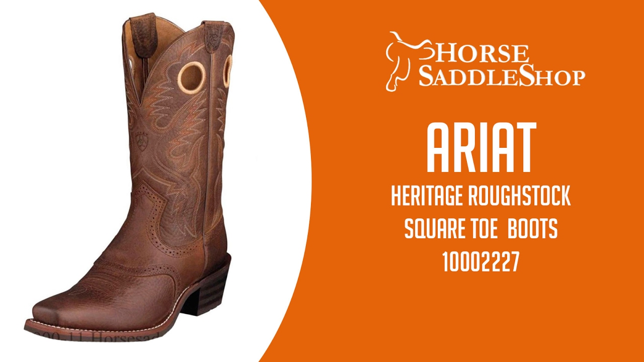 48bd875f474 Ariat Men's Heritage Roughstock Boots Square Toe Brown Oiled Rowdy 2227