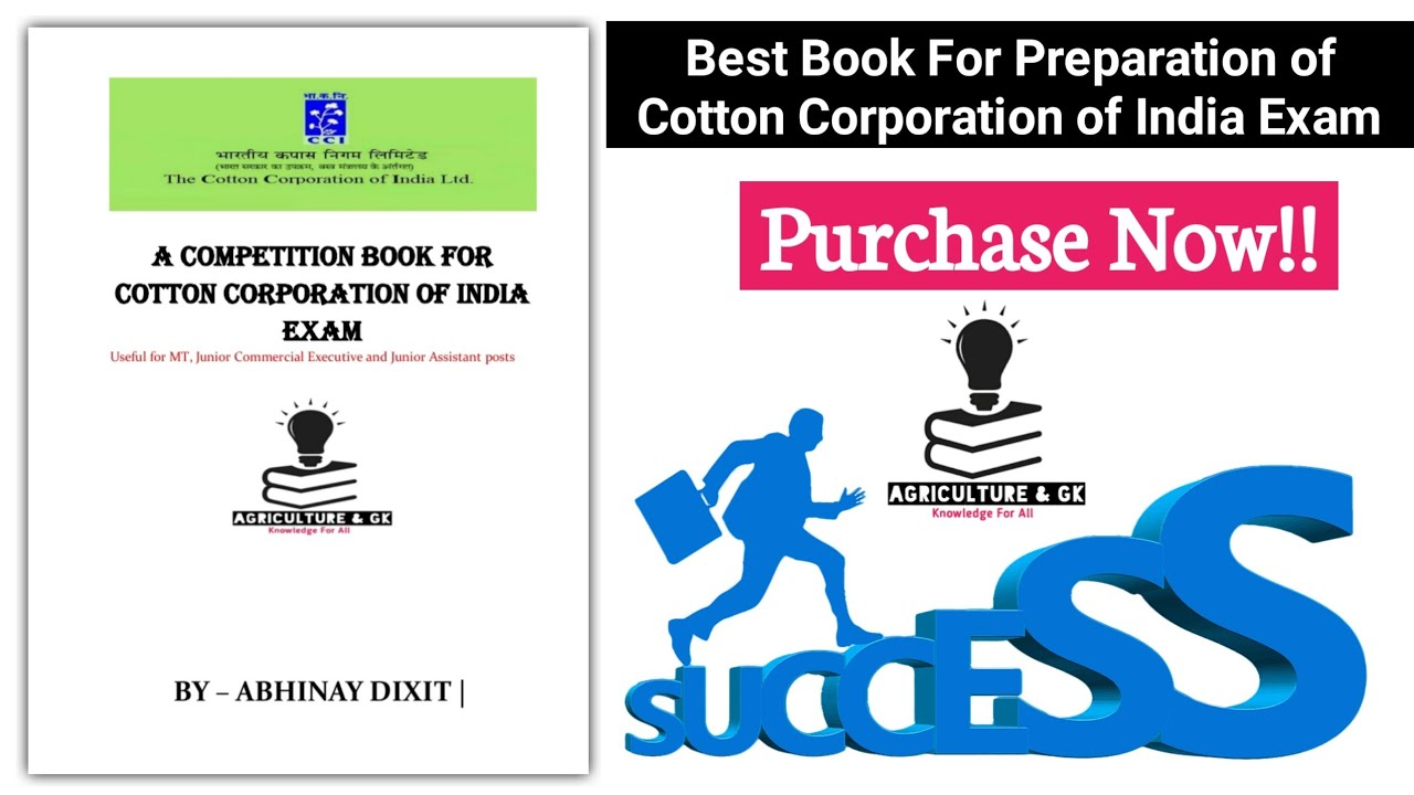 "Purchase Now!! 👍 ""Best Book"" For Preparation of Cotton Corporation of India Exam 