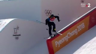 JO 2018 :ski acrobatique - Slopestyle hommes. Le Suédois Oscar Wester termine premier du Slopestyle