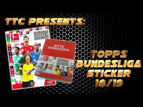 Topps Bundesliga Sticker  2018/2019 20 Tüten 100 Sticker 18/19 Neu Stickers, albums, sets