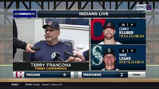 Terry Francona postgame on what it took to score on Indians ace Corey Kluber