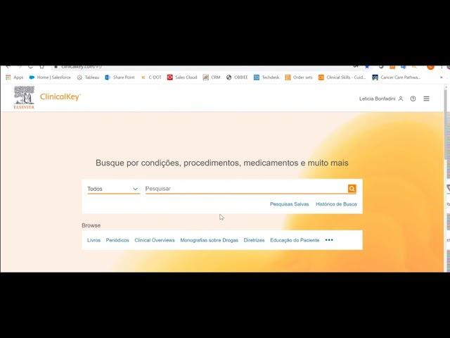 NA PARCERIA SOBRASP E ELSEVIER A NAVEGAÇÃO BÁSICA NO CLINICALKEY TE LEVAM PARA CONTEÚDOS EXCLUSIVOS