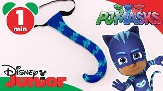 PJ Masks | Craft Tutorial: Catboy's Tail 🎨 | Disney Junior UK