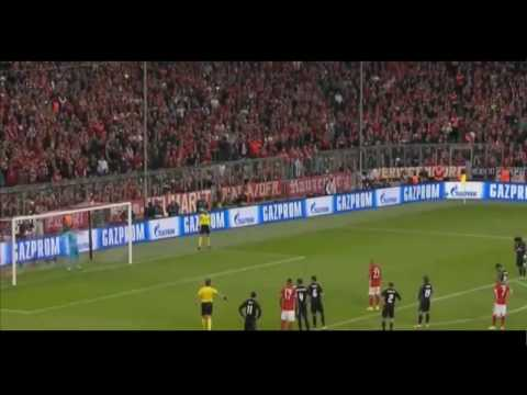 Arturo Vidal Missed Penalty - Bayern Munich vs Real Madrid 1-0 Champions League 12/04/2017