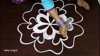 latest beautiful kolam designs - rangoli with 3dots