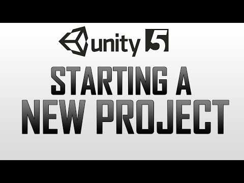 Starting a new project / Importing standard assets in Unity 5 - YouTube