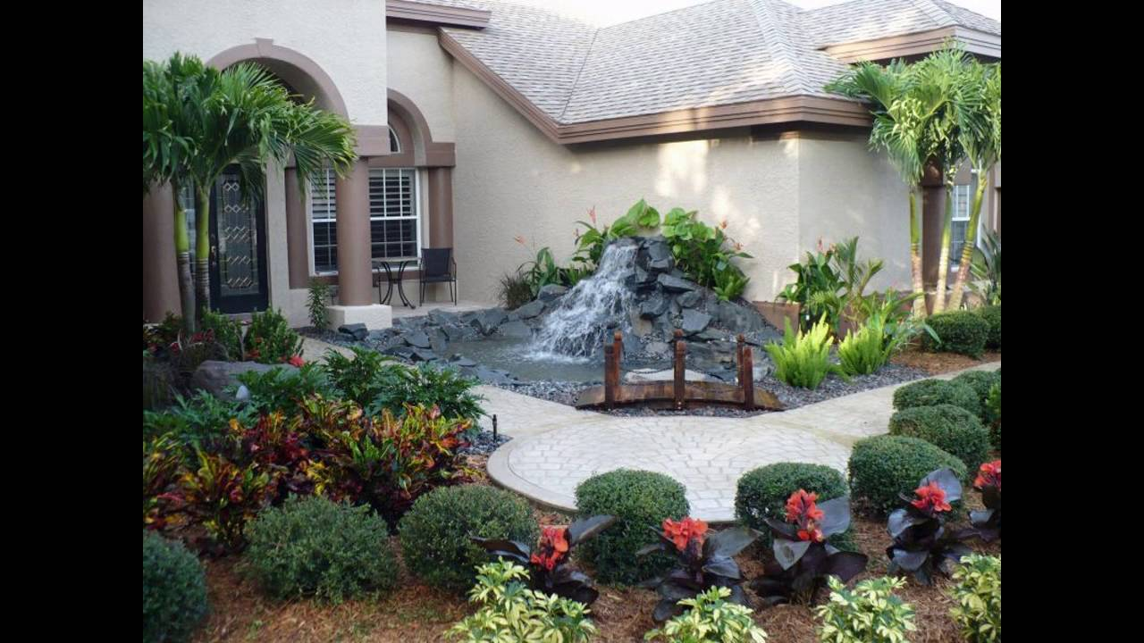 Garden ideas for front yard for small space youtube for Great front yard landscaping ideas